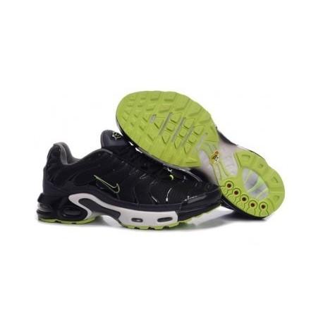 Nike TN 2018 Homme noir/vert soldes
