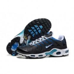 En ligne Nike Air Max TN 2017 Homme Chaussures Noir/Lake Bleu/Blanche France Pas Cher