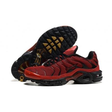 En ligne Nike Air Max TN 2017 Homme Chaussures Bright Rouge/Noir Moins Cher
