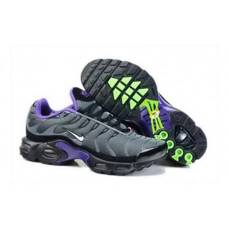 Acheter Nike Air Max TN 2017 Homme Chaussures Anthracite/Blanche/Violet/Fluorescent Verte France