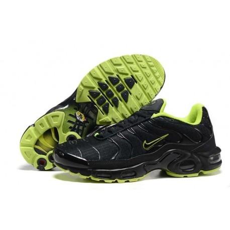 Achat Nike Air Max TN 2017 Homme Chaussures Noir/Fluorescent Verte Pas Cher
