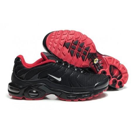 Acheter Homme Nike Air Max TN Chaussures Noir Rouge Soldes Pas Cher