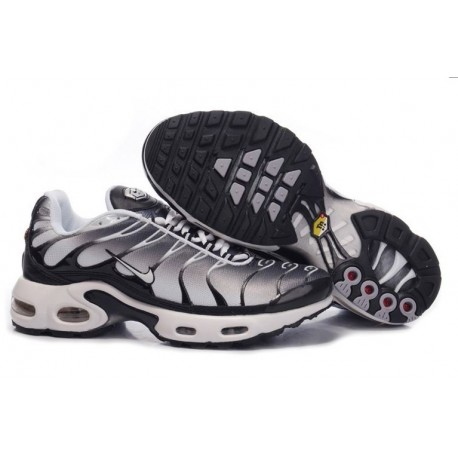 Achat Homme Nike Air Max TN Chaussures Noir Grise Blanche Moins Cher