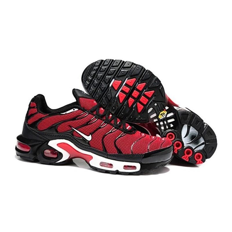 Achetez Homme Nike Air Max TN Chaussures Rouge Noir Blanche Soldes