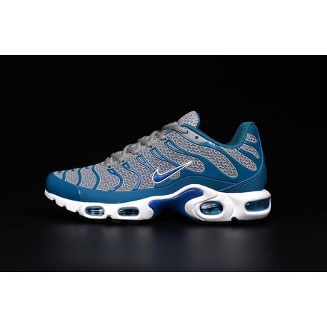 En ligne Nike Air Max TN 2017 Homme Chaussures Grise/Bleu/Blanche Soldes