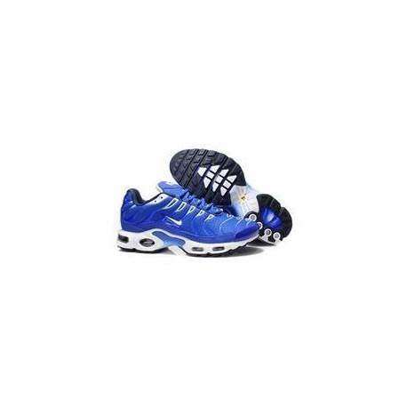 Nouveau Homme Nike Air Max TN Chaussures Bleu Blanche Soldes
