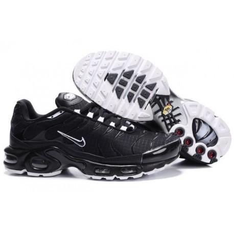 Nouveau Homme Nike Air Max TN Chaussures Noir Blanche France Pas Cher