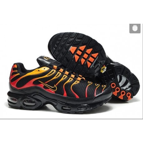 Achat Homme Nike Air Max TN Chaussures Noir Rouge Jaune France Pas Cher