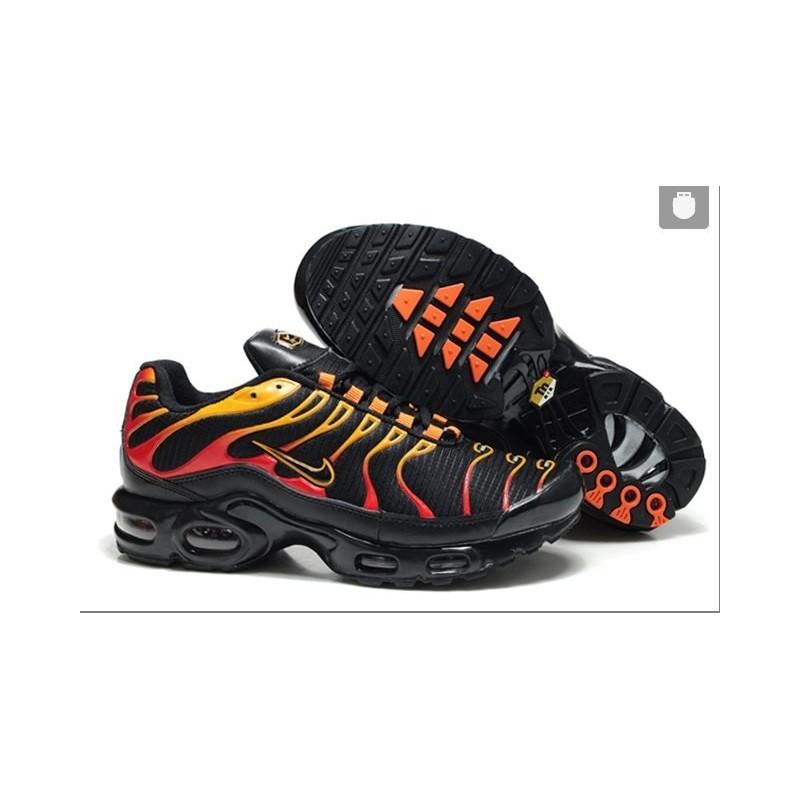 Achat Homme Nike Air Max TN Chaussures Noir Rouge Jaune France Pas ...