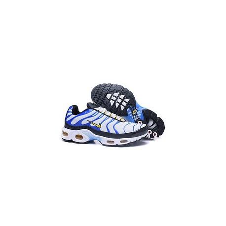 Achetez Nike Air Max TN 2017 Homme Chaussures Bleu/Blanche Moins Cher