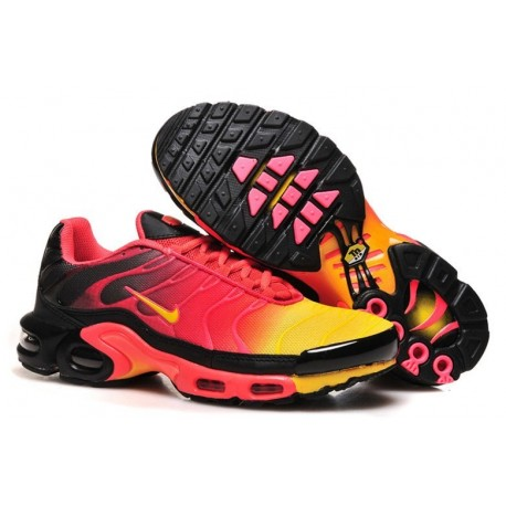 Achat Homme Nike Air Max TN Chaussures Noir Rouge Jaune Pas Cher