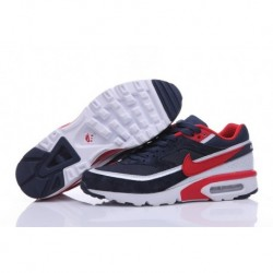 Achat Homme Nike Air Max BW Premium Chaussures de Running Marine/Rouge 819523-066 Soldes