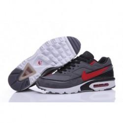 Acheter Homme Nike Air Max BW Premium Chaussures de Running Foncé Grise/Rouge 819523-067 En ligne