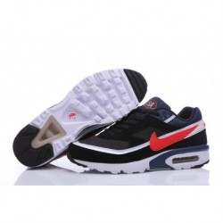 Homme Nike Air Max BW Premium Chaussures de Running Noir/Midnight Marine/Blanche/Crimson 819523-064 Pas Cher