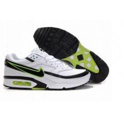 En ligne Homme Nike Air Max Classic BW Blanche Noir Verte Chaussures Moins Cher