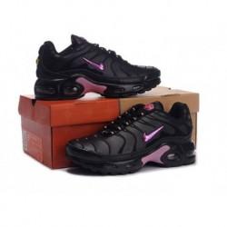 Acheter Nike Air Max TN 2017 Femme Chaussures Noir Clair Violet Pas Cher