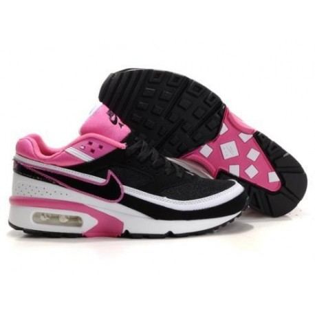 Achat Femme Nike Air Max Classic BW Noir Blanche Rose Chaussures France  Soldes