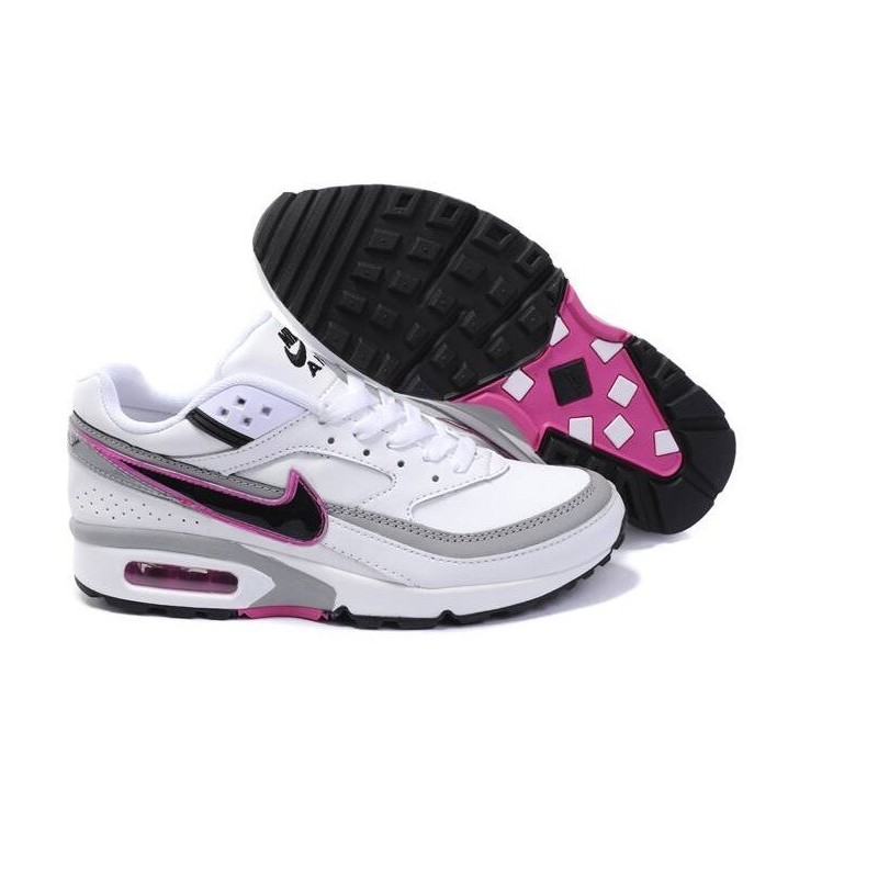 Achat Femme Nike Air Max Classic BW Blanche Grise Noir Rose Chaussures a  vendre