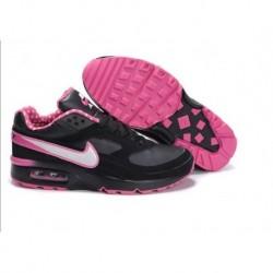 Achetez Femme Nike Air Max Classic BW Noir Rose Blanche Chaussures Moins Cher