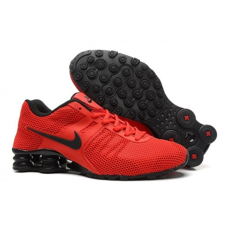Homme Rouge/Noir Chaussures Supérieures Nike Shox Current Respiratable