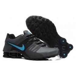 Nike Shox Chaussures en cuir actuelles Hommes Carbone Gris/Noir/Jade