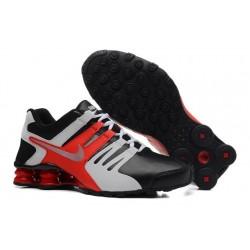Chaussures en cuir Nike Shox Current Homme Noir/Blanc/Rouge