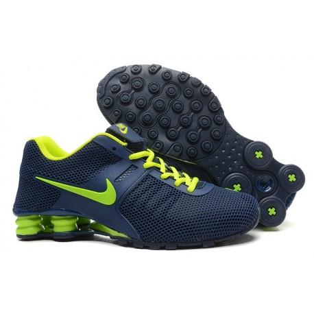 Chaussures supérieures Nike Shox Current Respirable Mesh Chaussures homme/Bleu fluorescent
