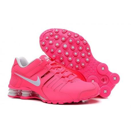 Nike Shox Chaussures en cuir actuelles Hommes Blanc/Pêche