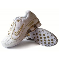 Nike Shox Monster Chaussures Hommes Blanc/Jaune