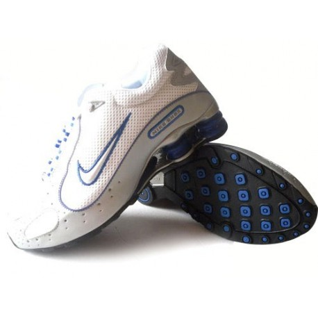 Blanc/Gris/Bleu Hommes Nike Shox Monster Chaussures