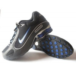 Chaussures Nike Shox Monster Hommes Noir/Bleu/Argent