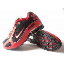 Homme Nike Shox Monster Rouge/Noir/Chaussures Argent