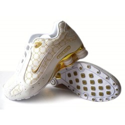 Nike Shox Monster Hommes Chaussures Blanc/Or