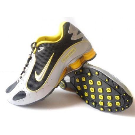 Noir/Blanc/Jaune Homme Nike Shox Monster Chaussures