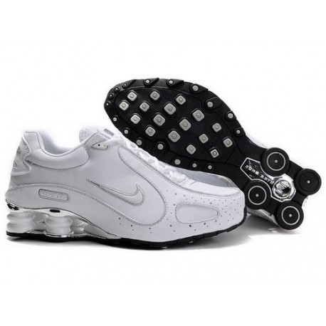 Nike Shox Monster Chaussures Hommes Blanc/Argent