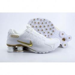Chaussures de course à pied Nike Shox NZ Blanc/Or pour homme