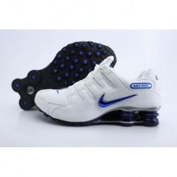 Homme Blanc/Bleu Nike Shox NZ Running Chaussures