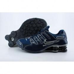 Hommes Nike Shox NZ Chaussures de course Bleu marine/Blanc