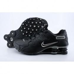 Chaussures de course Nike Shox NZ pour homme Noir/Argent