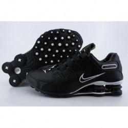Noir/Argent Logo Chaussures de course Nike Shox NZ pour hommes