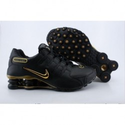 Homme Noir/Or Logo Nike Shox NZ Chaussures de course