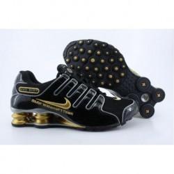 Nike Shox NZ Chaussures de course homme Noir/Or