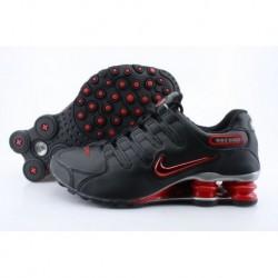 Homme Noir/Crimson Nike Shox NZ Running Chaussures