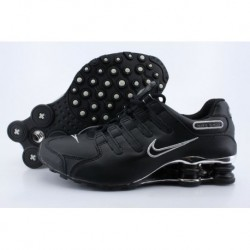 Chaussures de course Nike Shox NZ Noir/argent/Electroplate Button