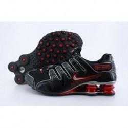 Chaussures de course Nike Shox NZ Noir/Crimson pour hommes/femmes