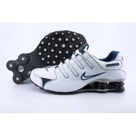 Hommes/Femmes Blanc/Bleu marine Chaussures de course Nike Shox NZ