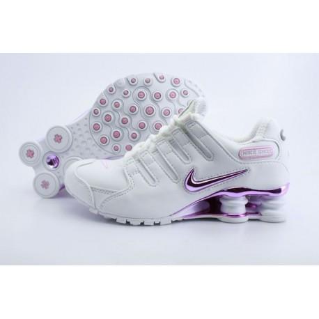 Femme Nike Shox NZ Full Plating Blanc Purple Chaussures de course