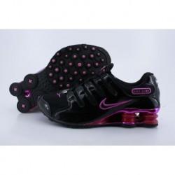 Chaussures de course Nike Shox NZ Noir Rouge Femme