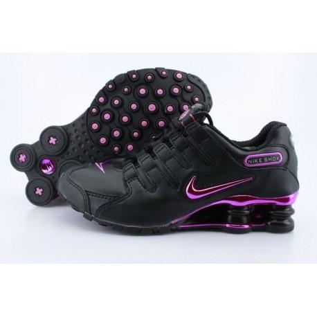 Femme Nike Shox NZ Full Plating Noir Chaussures de course rouge