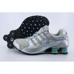Argent/Jade/Green Nike Shox NZ Chaussures de course pour femme